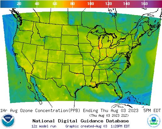 Air Quality Forecast Guidance for CONUS Area