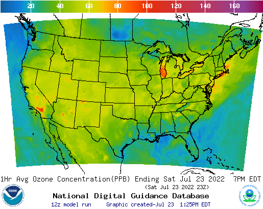 Example Graphic 1hr Ozone Concentration for CONUS