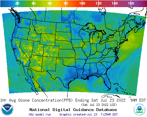 NWS Air Quality Index Air Quality Map Usa Map Usa Map Images - Map of air quality in us