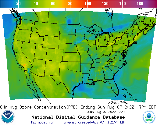 Example Graphic 8hr Ozone Concentration for CONUS
