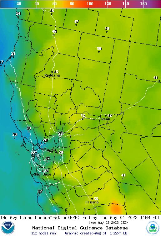 AirqualityweathergovimagesnorthcaliforniaOzon - North california map