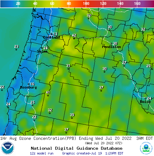 Air Quality Forecast Guidance for Oregon